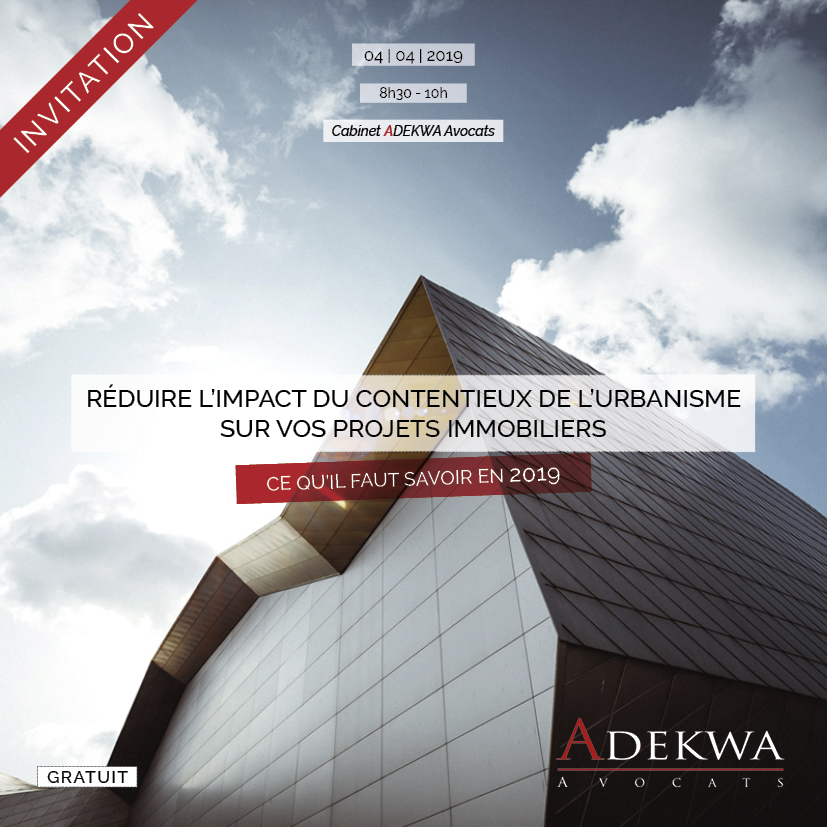ADEKWA Avocats Lille - Invitation Formation Promoteurs Immobiliers